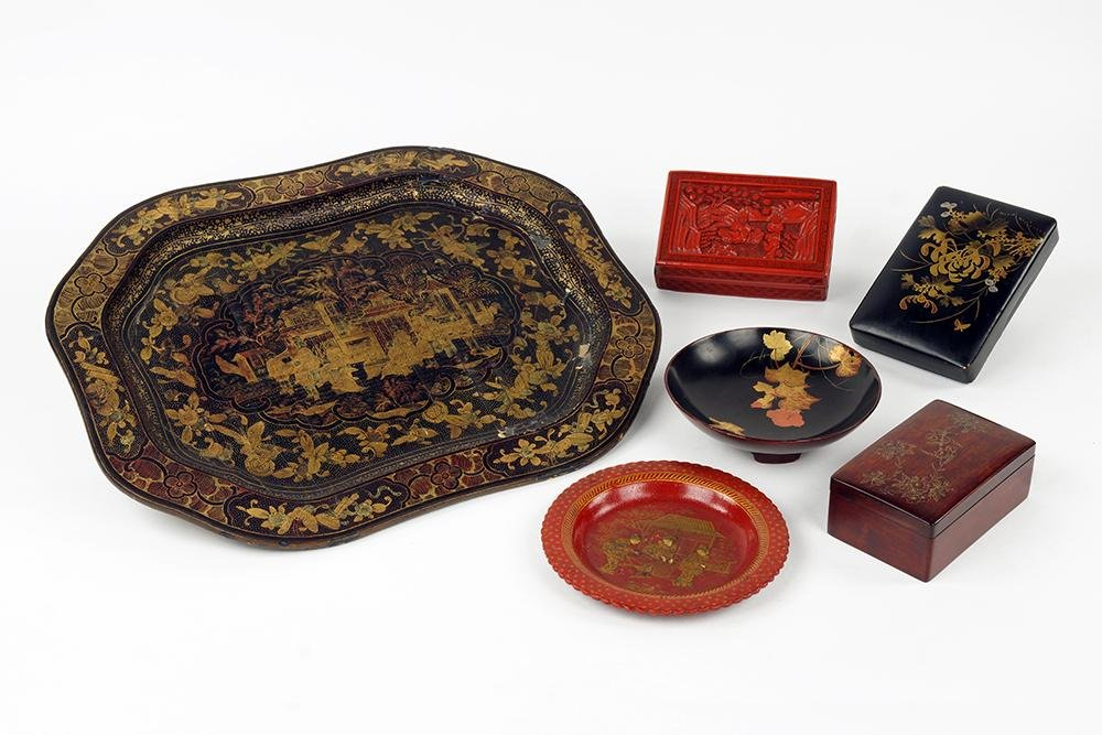 A Chinese Lacquered Tray.