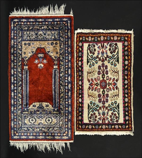 A Persian Prayer Rug.