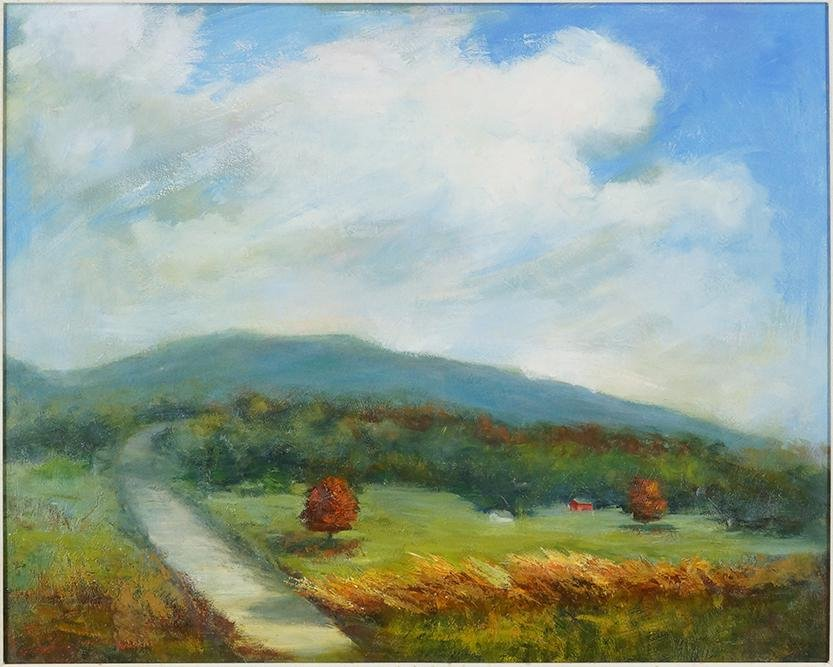 Jayne Bellows (American, Contemporary) Countryscape;
