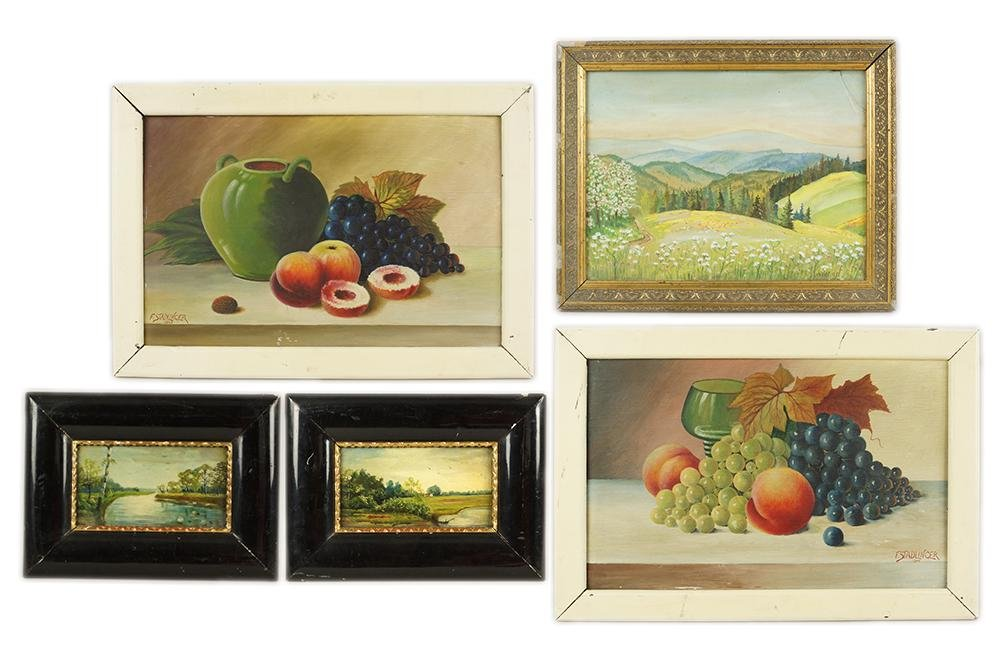 A Collection of 19th and 20th Century Paintings.