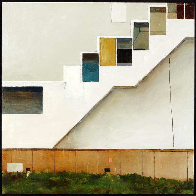 J. Earhart (American, Contemporary) Outdoor Stair at