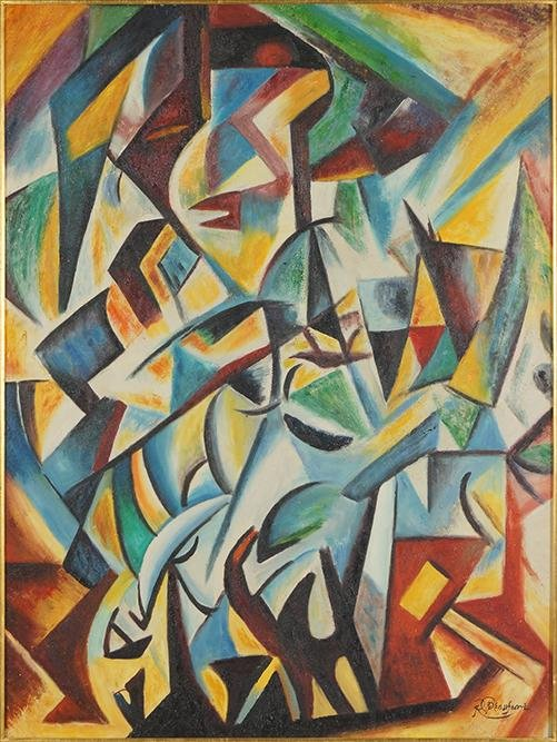 R. Beaufort (Contemporary) Abstraction.