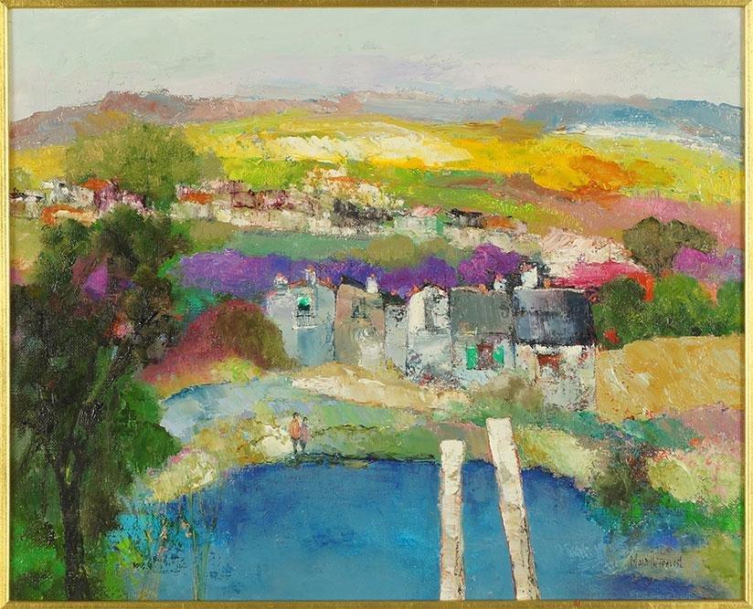 Maurille Prevost (French, B. 1922) Village.