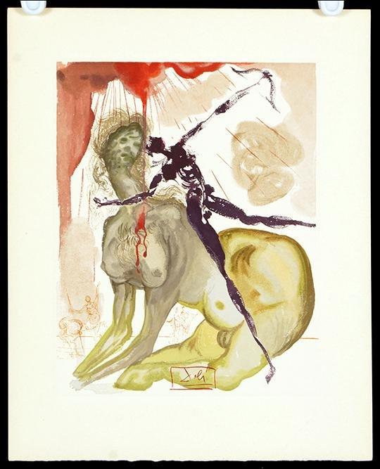Salvador Dali (Spanish, 1904-1989) Minotaur: Inferno