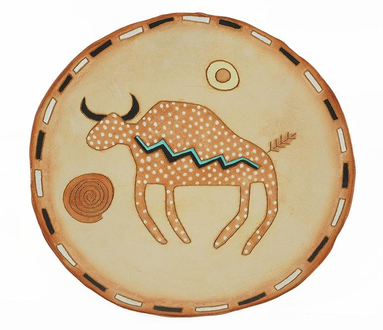 A Native American Pottery Charger.