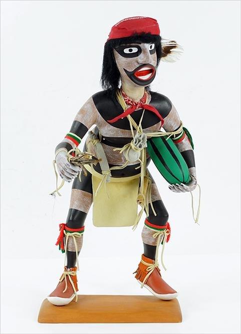 A Hopi Clown Kachina Figure.