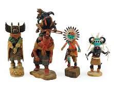 Four Native American Kachina Dolls