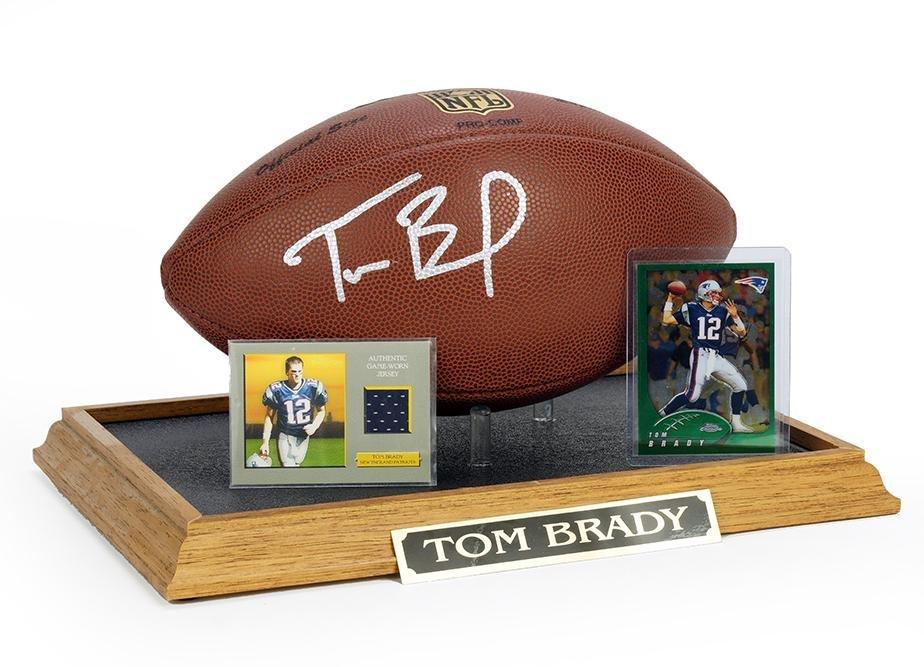 A Tom Brady Autographed Football.