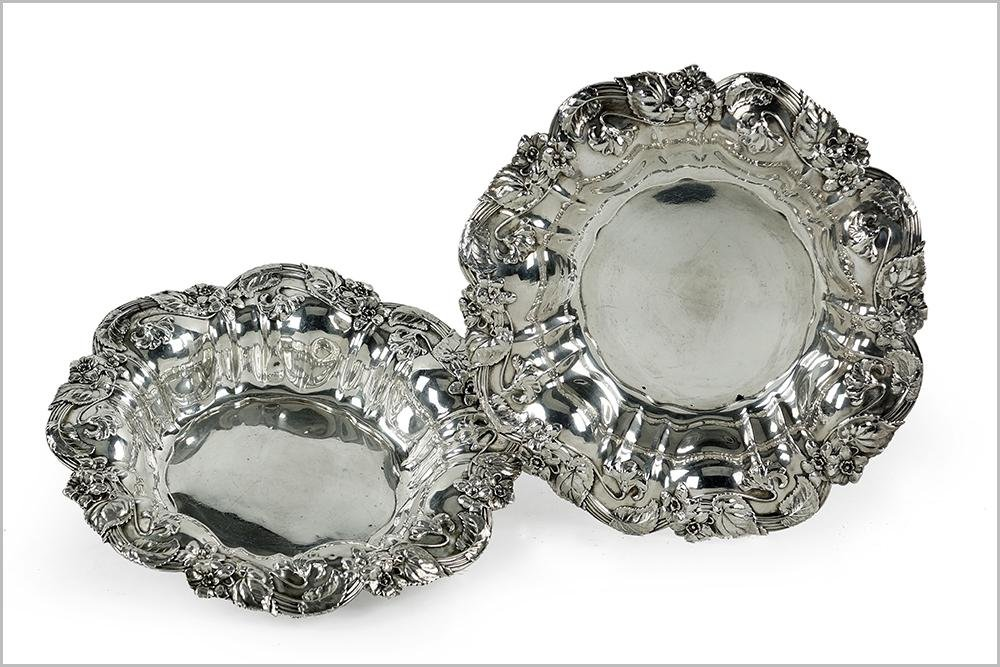 A Pair of Whiting for C.D. Peacock Sterling Silver
