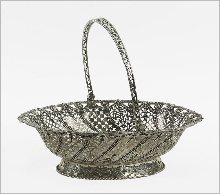 A George III English Silver Basket.