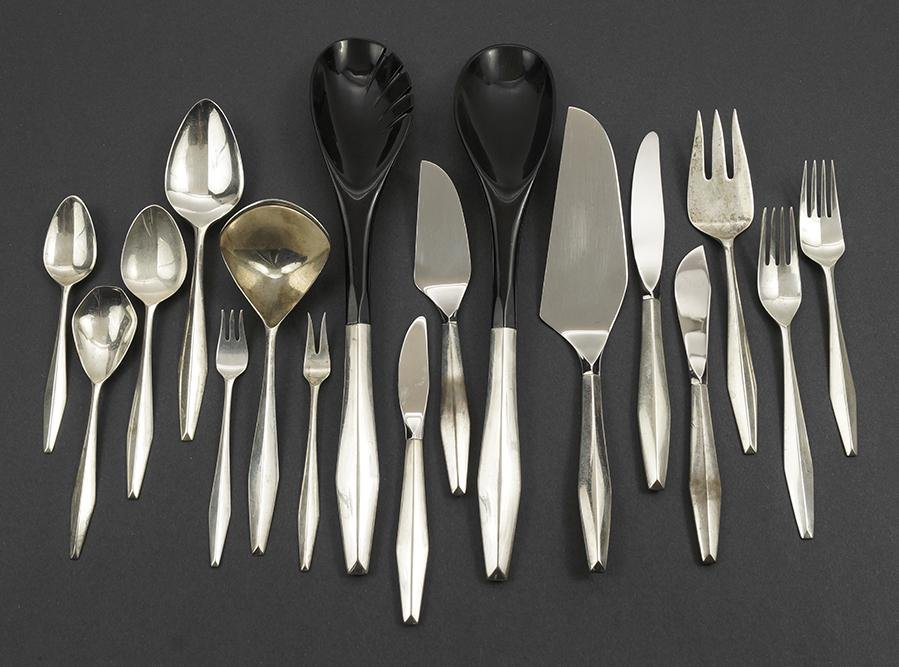 A Gio Ponti for Reed & Barton Sterling Silver Flatware
