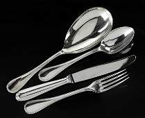 A Christofle Silverplate Flatware Service.