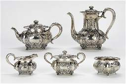 A C.D. Peacock Sterling Silver Tea and Coffee Service.