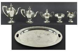 A Gorham Sterling Silver Tea and Coffee Service.