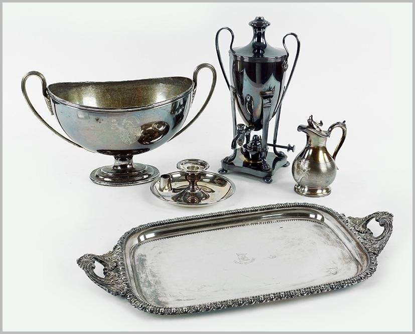 A Collection of Silverplate.