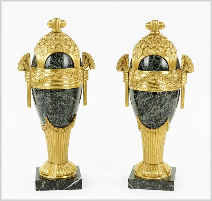 A Pair of French Cassolettes.