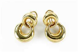 A Pair of Tiffany  Company 18 Karat Yellow Gold