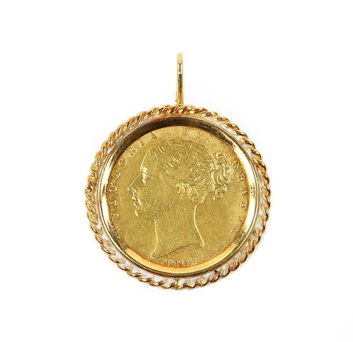 A British Gold Coin Pendant.