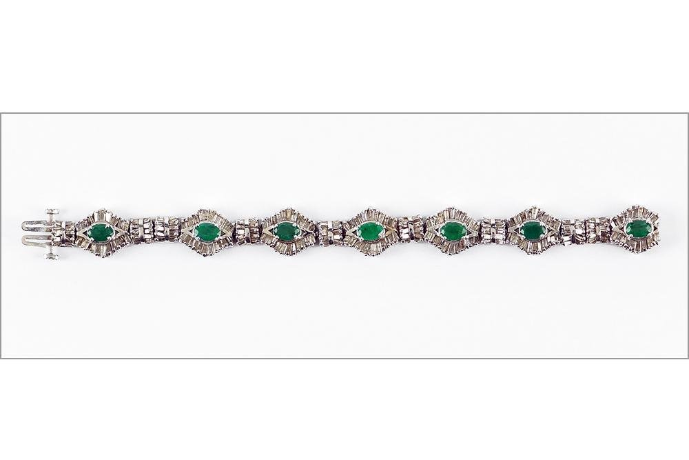 An Emerald & Diamond Bracelet.