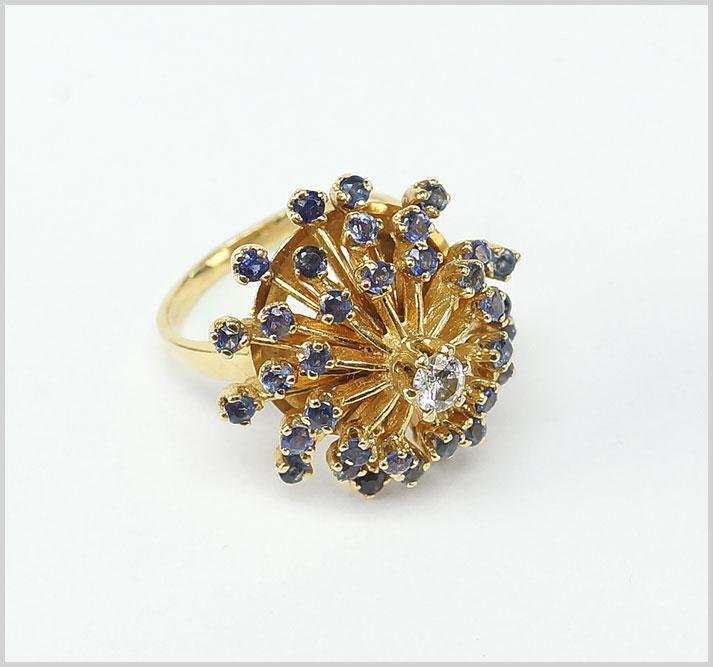 A Sapphire & Diamond Cocktail Ring.
