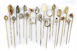 A Collection of Goldfilled Stick Pins.