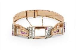 A Lady's Retro Watch Bracelet.