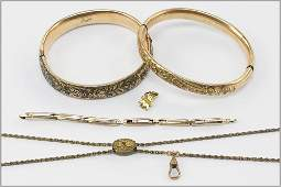 Two Victorian Goldfilled Bangle Bracelets.