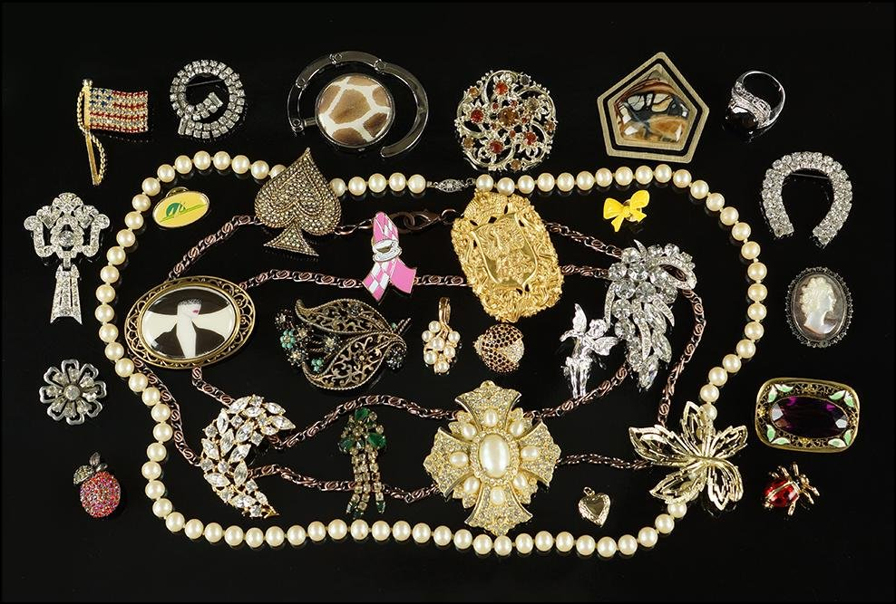 A Collection of Costume Jewelry.