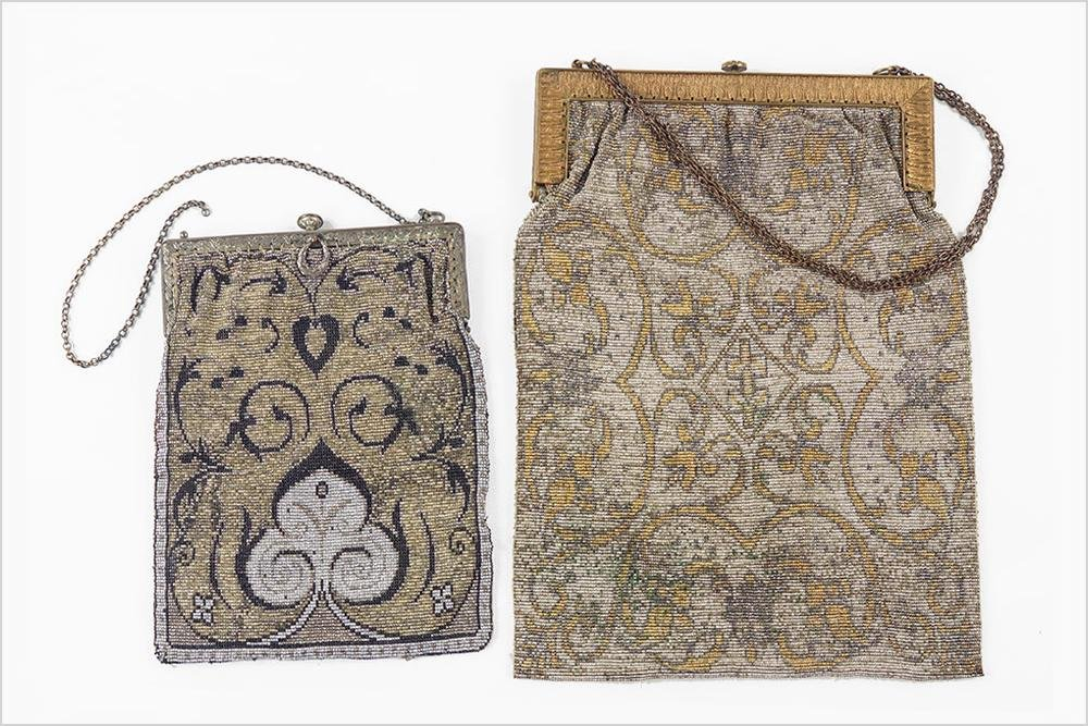 Two French Art Deco Beaded Evening Bags.