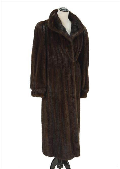 A Mahogany Mink Coat.