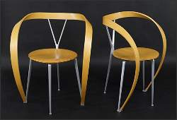 A Pair of Andrea Branzi for Cassina 'Revers' Chairs.