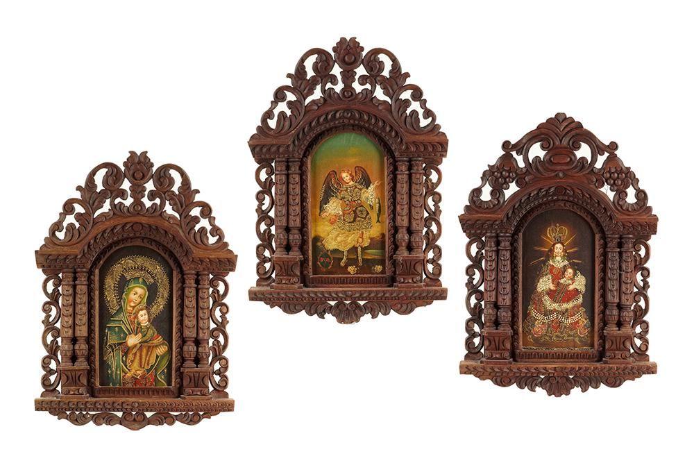 A Set of Three 20th Century Retablos.