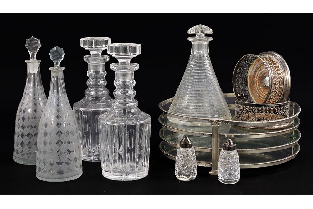 Two Pairs of Crystal Decanters.