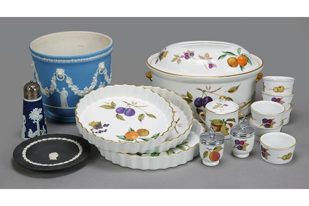 A Collection of Royal Worcester Porcelain Table