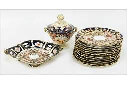 A Set of Twelve Royal Crown Derby Scallop Edge Plates