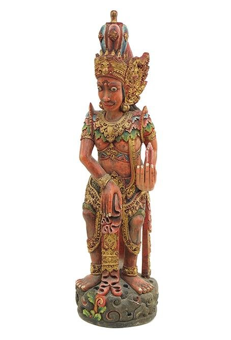 A Southeast Asian Carved and Polychrome Painted Wood