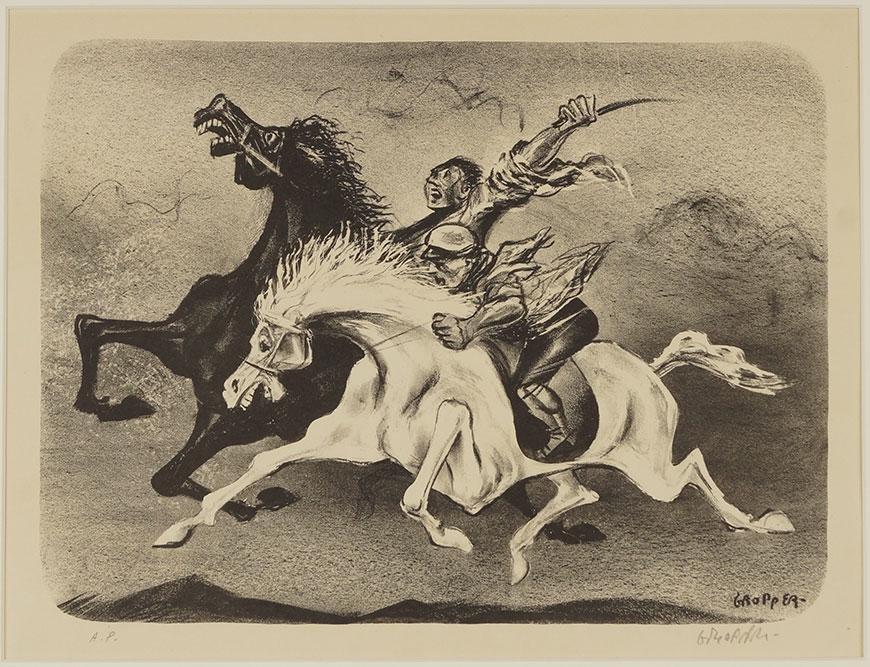 William Gropper (American, 1897-1977) Horsemen.