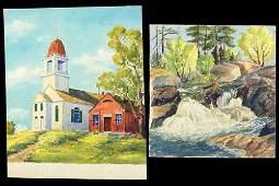 Rupert Lovejoy (American, 1885-1975) Two Watercolors.
