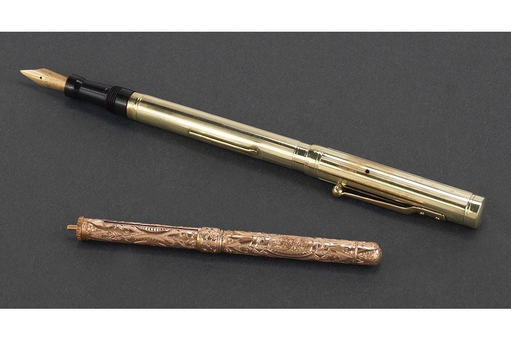 Mabie Todd 14k Gold Swan Fountain Pen.