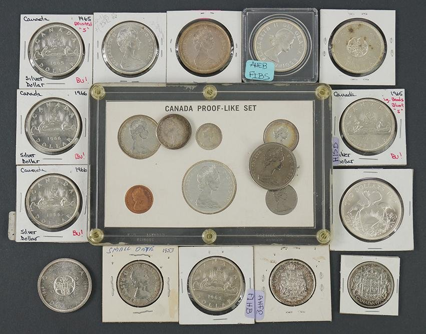 Group of Silver Canadian Coins.
