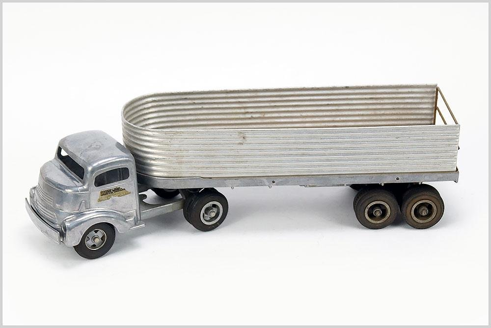 Smith Miller Smitty Toy Aluminum Truck and Trailer.