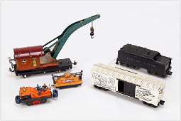 Group of Five Various Lionel and American Flyer Train