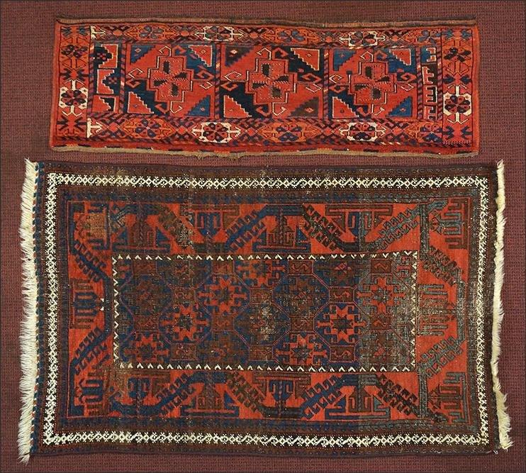 Two Persian Wool Rugs.