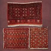 Three Bokhara Wool Rugs.