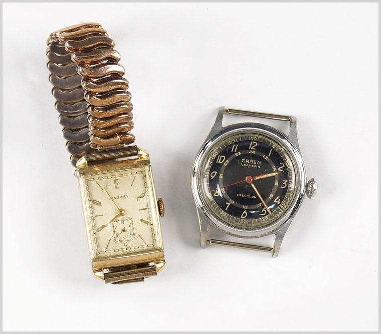 Longines and Gruen Men's Wrist Watch.