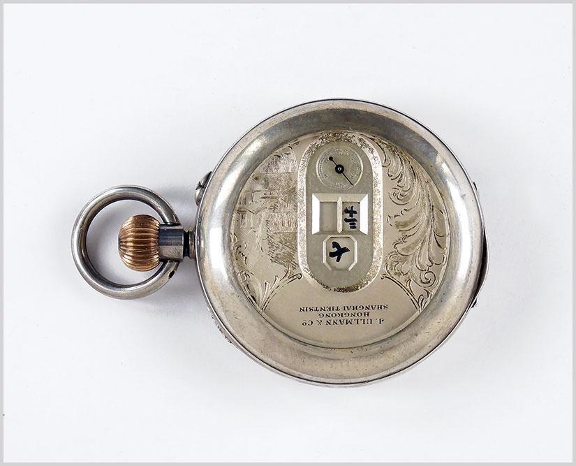 Ullmann Shanghai Hong Kong .800 Silver Pocket Watch.