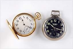 Elgin 14k Yellow Gold Pocket Watch