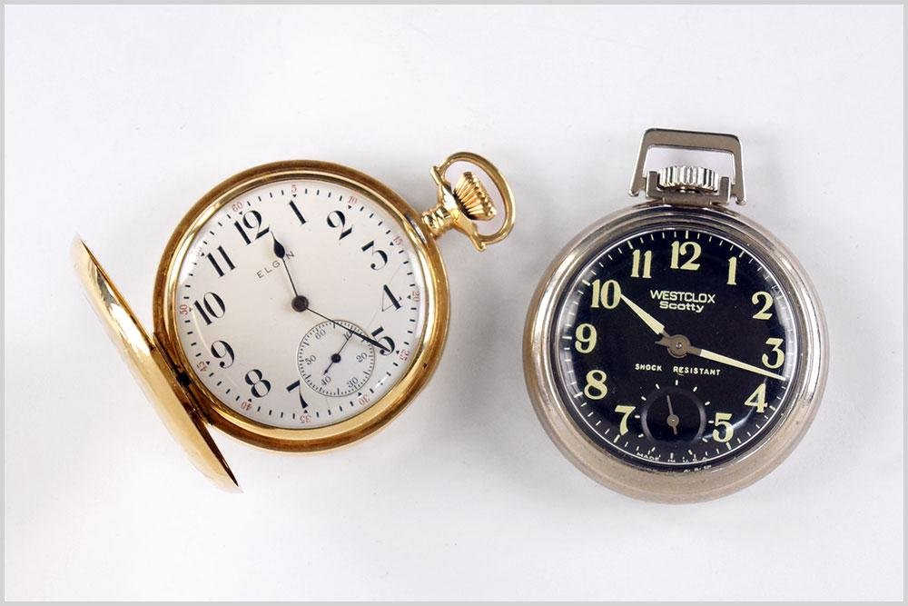 Elgin 14k Yellow Gold Pocket Watch.