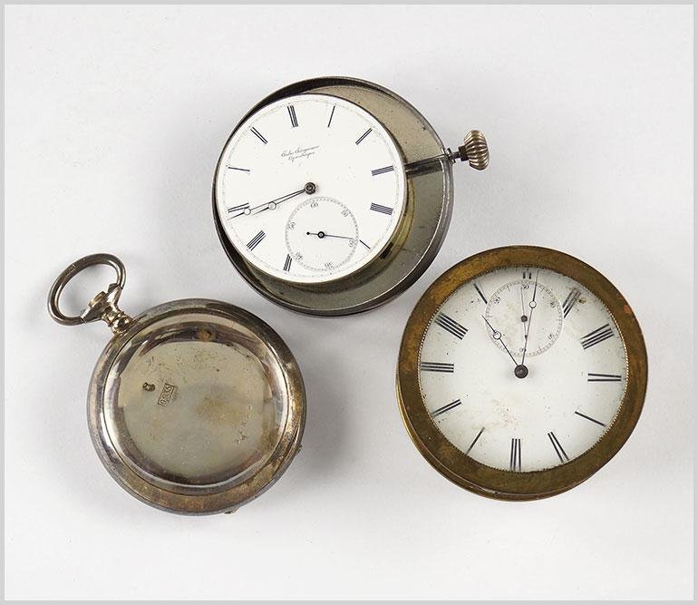 Breitling and Jules Jurgensen Pocket Watches and Parts.