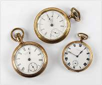 Waltham and Howard Men's Pocket Watches.